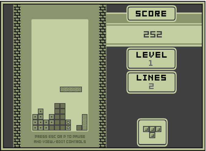 Retro Tetris 1989